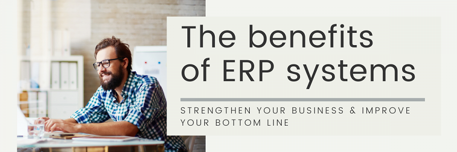 The benefits of ERP systems banner