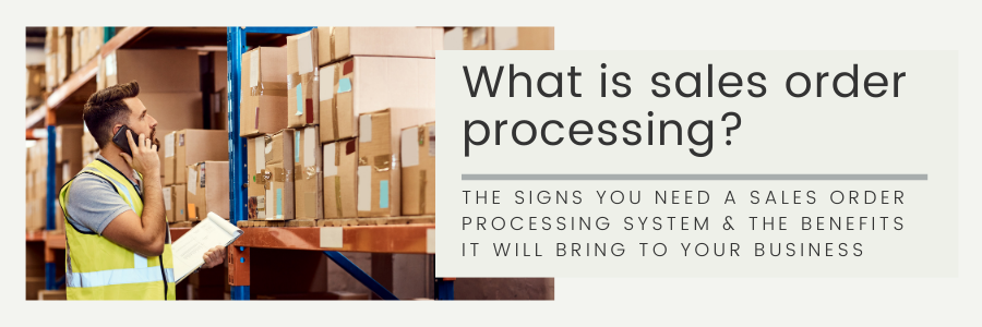 What is sales order processing? banner